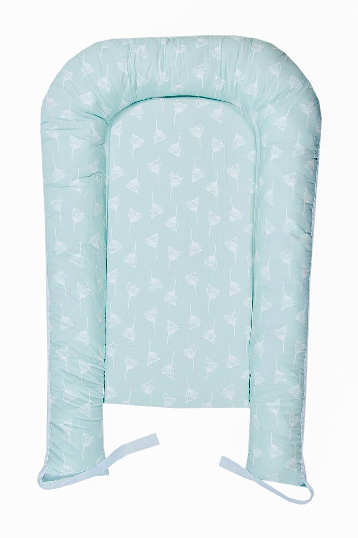 Pod Baby Sleeping Made in Europe Lit b/éb/é mignon Bumper Snuggle Pod Dandelion-Aquamarine Multifonctionnel mousse sommeil Nest Nest enfant Cuddle MoMika Pod b/éb/é