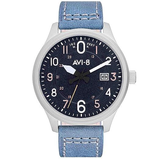 AVI-8 Hawker Hurricane Reloj de Hombre Cuarzo 43mm Correa de Cuero AV-4053-0F: Amazon.es: Relojes