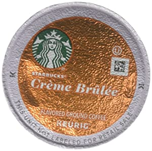 32 Count - Starbucks Creme Brulee Flavored Coffee K-Cups for Keurig K Cup Brewers and 2.0 Brewers