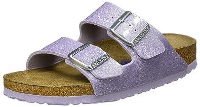 a635fa8b3a0e Birkenstock Women s Arizona Soft Footbed Sandals150  Narrow Width Magic  Galaxy UK 3.5 Purple