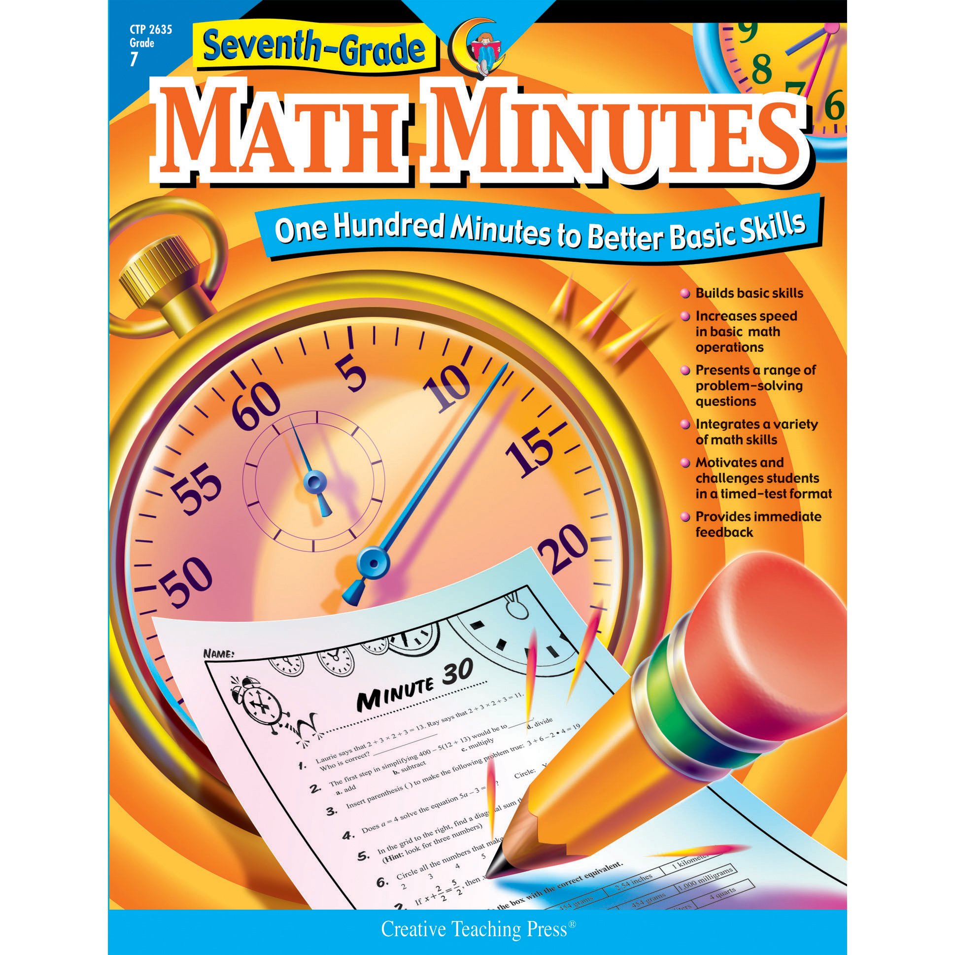 Seventh-Grade Math Minutes: One Hundred Minutes to Better Basic ...