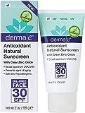derma e Antioxidant Natural Sunscreen SPF 30 Oil-Free Face Lotion with Vitamin C and Green Tea 2 oz