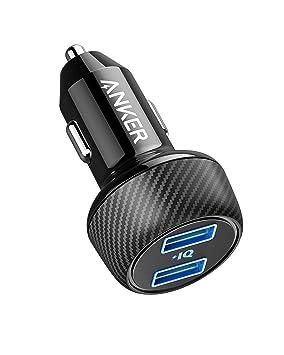 Anker Power Drive 2 Elite Compacto 24 W Coche Cargador Dual Port Cargador de Coche con tecnología PowerIQ para Apple, Samsung, Otros iOS o Android ...