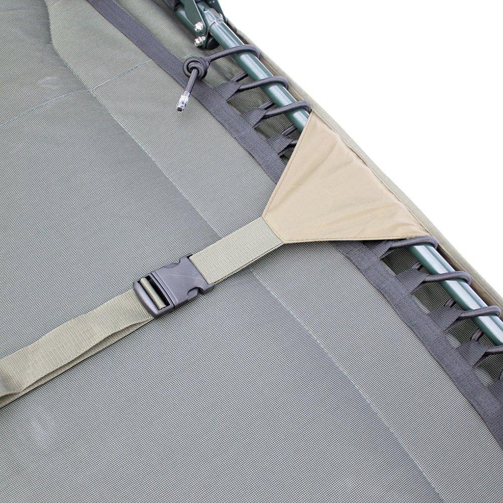 Abode Hollow Fill Quilted Fleece Bedchair Mattress Topper Carp Fishing Bed Cover