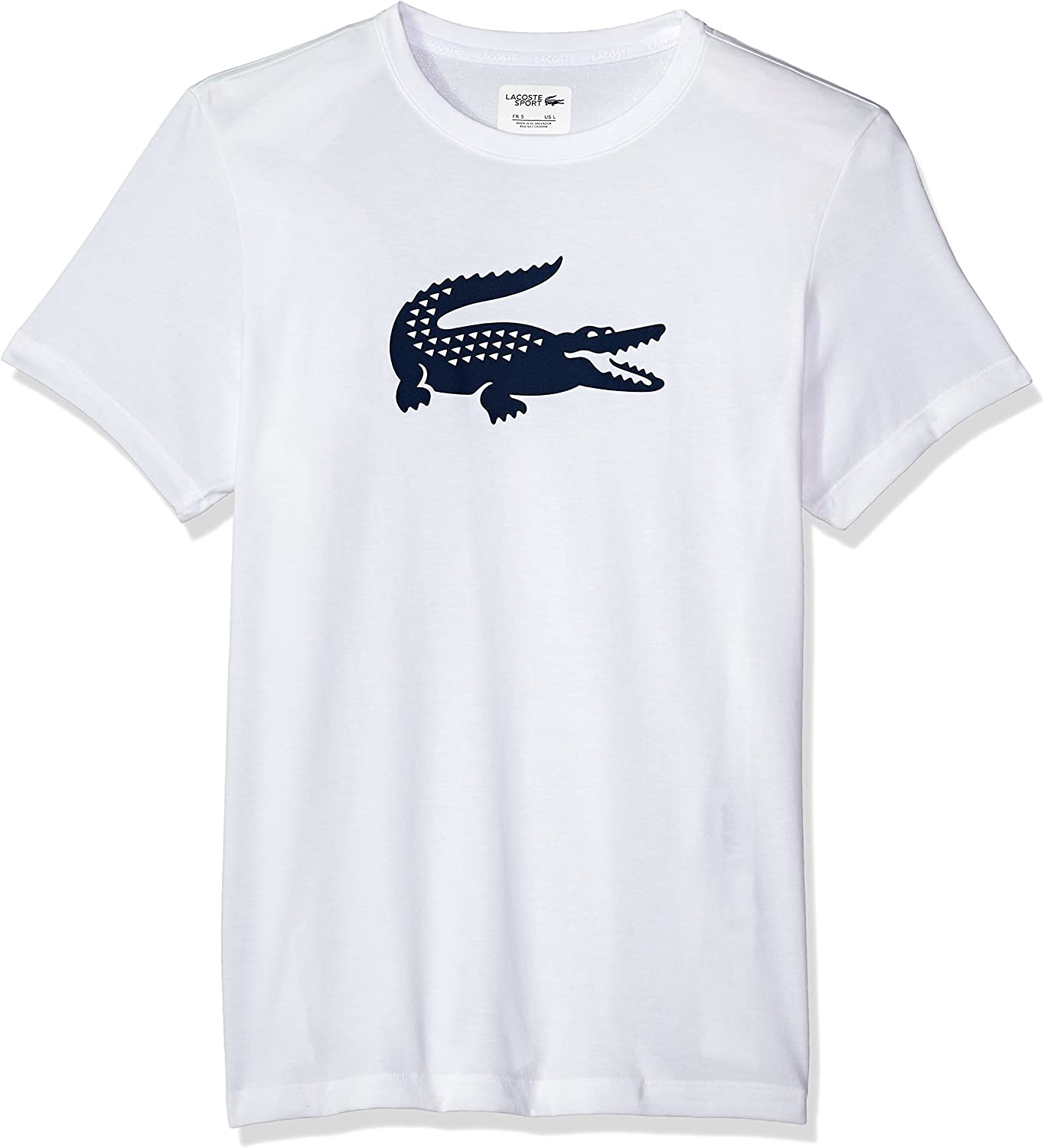 Lacoste Mens Sport Technical Jersey Tennis T-Shirt With Croc Graphic
