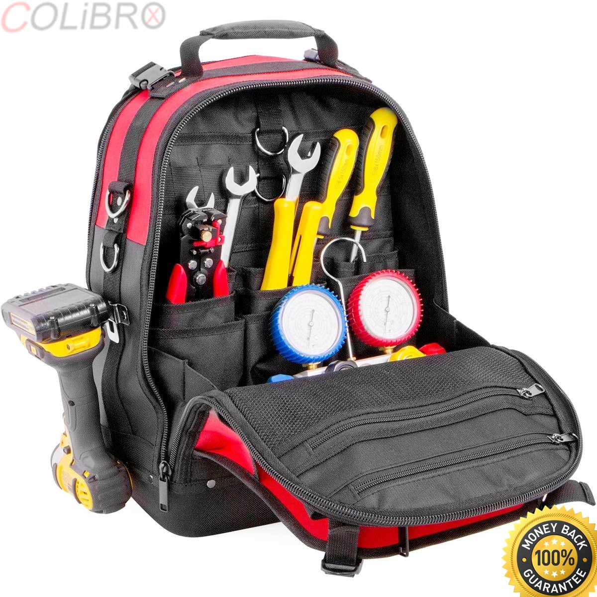 51777e563baca COLIBROX-xtreme tough Jobsite Backpack Tool Storage Bag Heavy Duty  Construction Book Bag. craftsman tool backpack. tool backpack home depot.  best tool bag ...