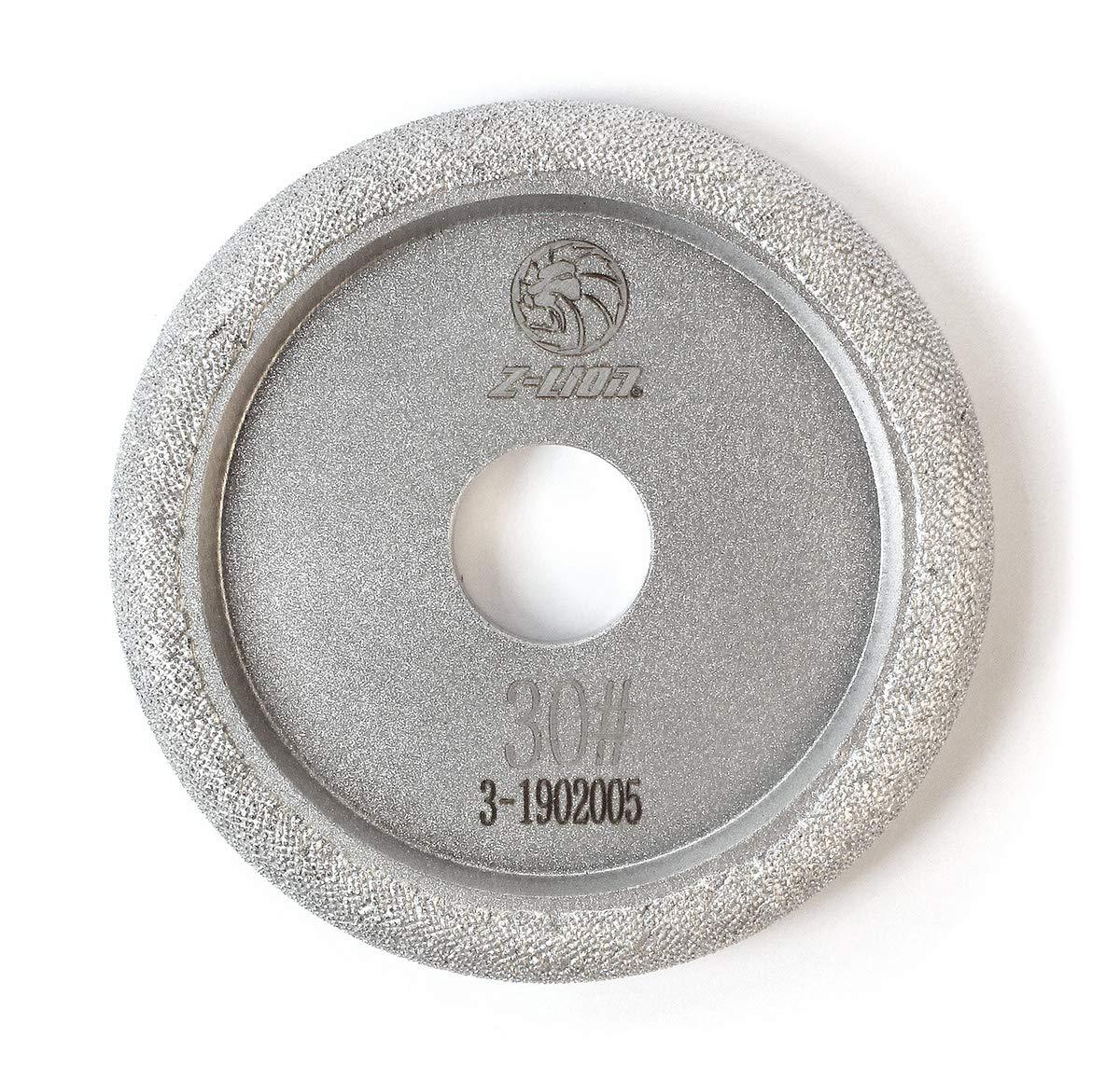Z-LION 4'' Vacuum Brazed Diamond Profile Wheel Marble Granite Countertop Grinding Wheel Grit 30