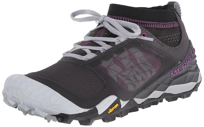 Amazon.com | Merrell Women's All Out Terra Trail Trail Running Shoe,  Black/Purple, 5 M US | Trail Running