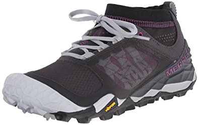 Merrell Women's All Out Terra Trail Trail Running Shoe, Black/Purple, ...
