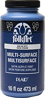 product image for FolkArt Multi-Surface Satin Acrylic Paint in Assorted Colors, 16 oz, Ink Spot 16 Fl Oz