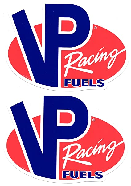 Vp fuels racing decals stickers 7 inches long size set of 2