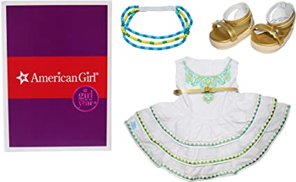American Girl 2016 Doll Of Year Lea/'s Celebration Dress Shoes Headband Outfit