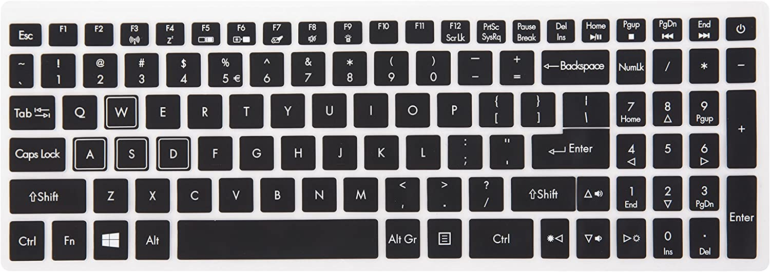 Leze - Ultra Thin Soft Keyboard Protector Skin Cover for Acer Aspire VX 15 VX5-591G, Aspire V15 VN7-593G,Predator Helios 300,Aspire V17 VN7-793G Gaming Laptop US Layout - Black