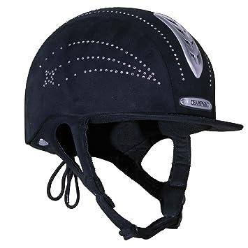 Champion - X-Air Casco ventilado para equitación con cristales y estrella para adultos o