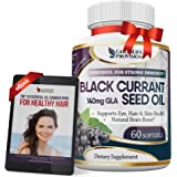 Black Currant Oil 1000 mg - Hexane Free – Natural Anti Aging Antioxidant with High GLA Formula – Supports Hair, Skin…