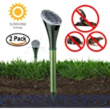 YAKALLA Solar Powered Pest and Animal Repellent, Get Rid of Snake Mole Gophers for Outdoor Garden Yard-2 Pack