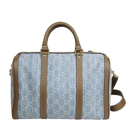 5b698a2eca97 Gucci Blue GG Denim Shoulder Strap Joy Boston Bag 247205 8622: Amazon.ca:  Shoes & Handbags