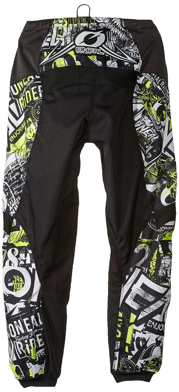 ONeal Unisex-Adult Element Attack Pant Black//Hi-Viz, Size 40