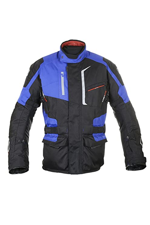 Oxford Products Chaqueta de Motorista, Negro/Azul, 38 ...