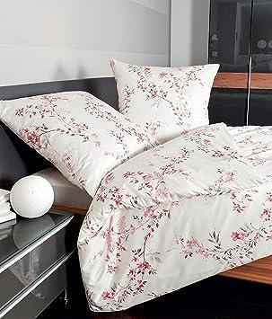 Janine Mako Satin Bettwäsche 155 X 200 Cm Satin Bettbezug Weiß