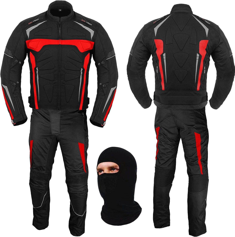 Waterproof Motorcycle Armor Suits Bike Rider Suit 2 piece Suit Motorbike Racing Suit All Weather Wearing CE Armour for Mens Boys Motorbike Suit Men Size Medium