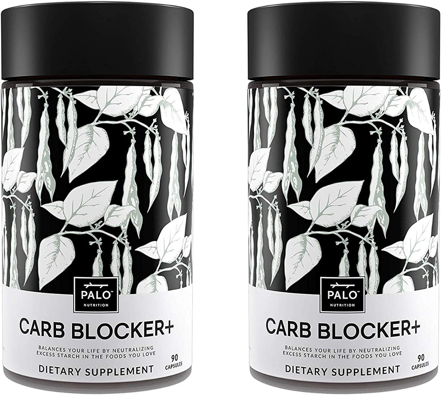 Carb Blocker 180 Count 2 Pack – Innovative Formula Composed of White Kidney Bean Extract, White Mulberry and Chromium Weight Loss, Boost Metabolism, Help Control Blood Sugar by PALO Nutrition