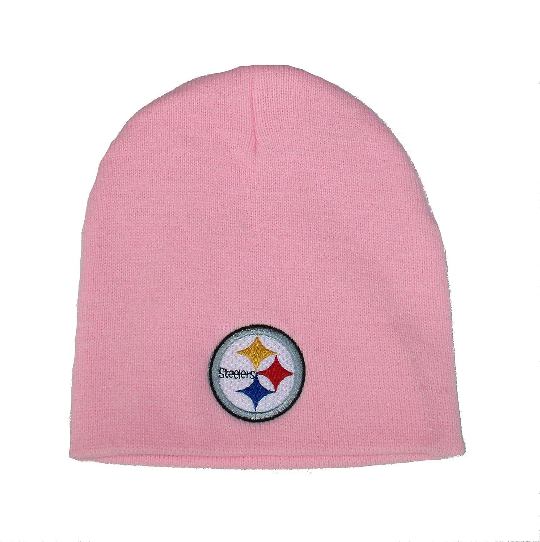 Pittsburgh Steelersレディース用ニットCufflessビーニー1サイズNFL Authentic帽子キャップ – OSFMピンク   B0198Y3OXI