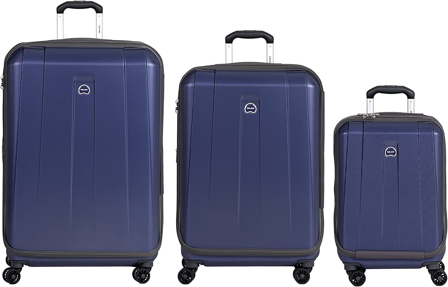 DELSEY Paris Delsey Luggage Shadow 3.0 Expand Hardside 21x25x29 Inches Luggage Set Navy Blue