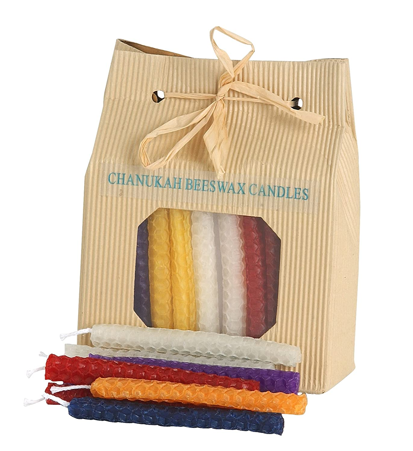 Chanukah Candles for Menorah Hanukkah Celebrations 45 Beeswax Candles Multi Colors Israel Gifts