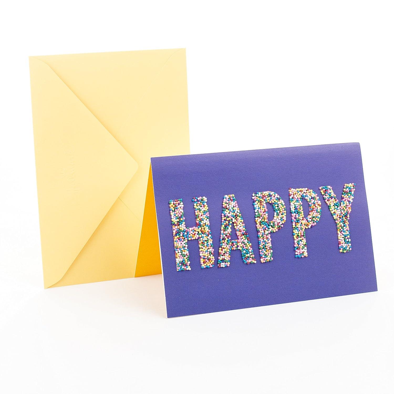 Amazon Hallmark Signature Birthday Card Happy Sprinkles