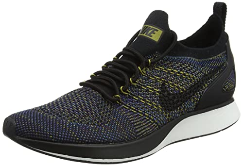 b61952bfe93 Nike Women s s Air Zoom Mariah Flyknit Racer Trainers Black-Summit  White-Desert Moss-