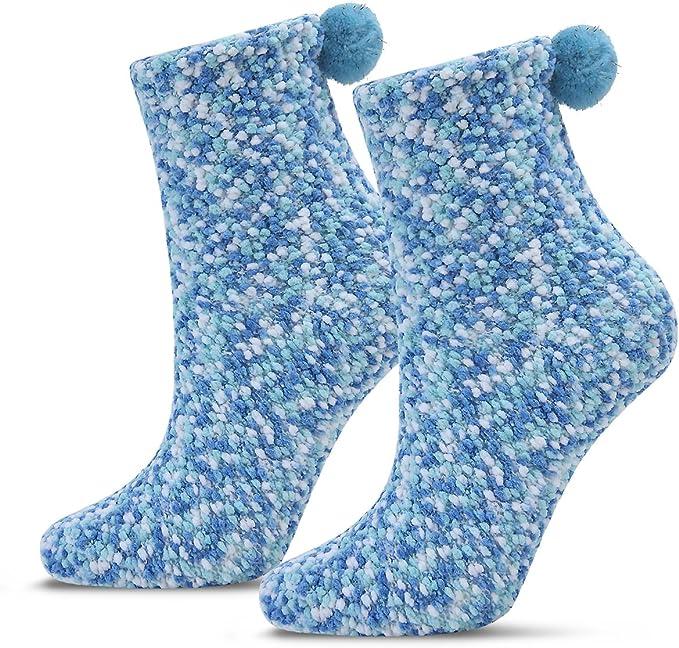 2 Caja Regalo Navidad Calcetines Dia de san Valentin Super Suaves Cómodos Calentar Mujer DIY (2 Azul, EU 36-42): Amazon.es: Ropa y accesorios