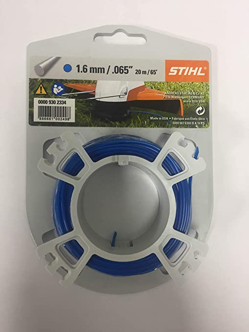 Stihl - Carrete de Hilo de Corte (1,6 mm, 20 m), Color Azul ...