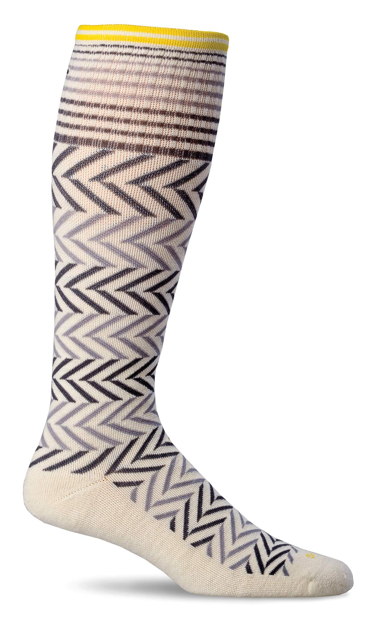 Sockwell Women's Chevron Graduated Compression Socks, Natural, Medium/Large by Sockwell