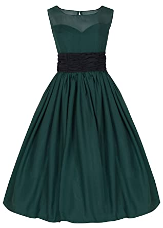 Lindy Bop Serena Elegant Vintage 1950s Chiffon Prom Dress / Ball Gown (16