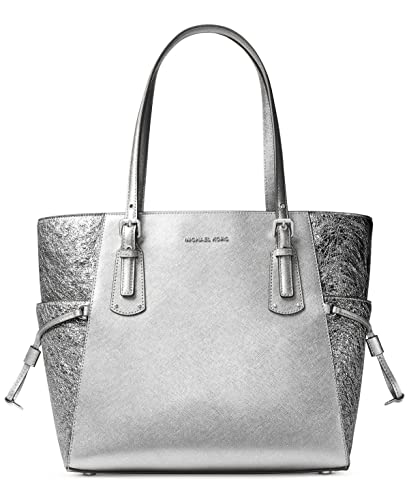 20a9c0301974 Amazon.com: MICHAEL Michael Kors Voyager East West Signature Tote (Light  Pewter): Shoes