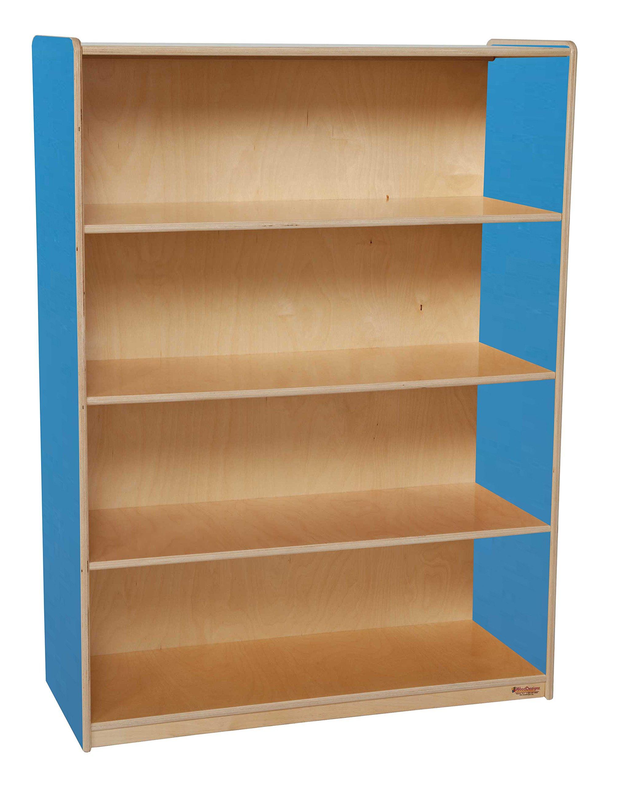 Healthy Kids Colors WD12900B Blueberry Bookshelf, 48''H