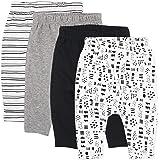 HonestBaby Baby 4-Pack Organic Cotton Cuff-Less Harem Pants
