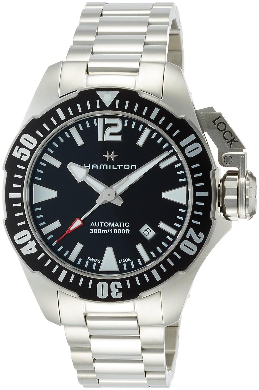 Hamilton Khaki Navy Frogman Automatic Black Dial Mens Watch H77605135