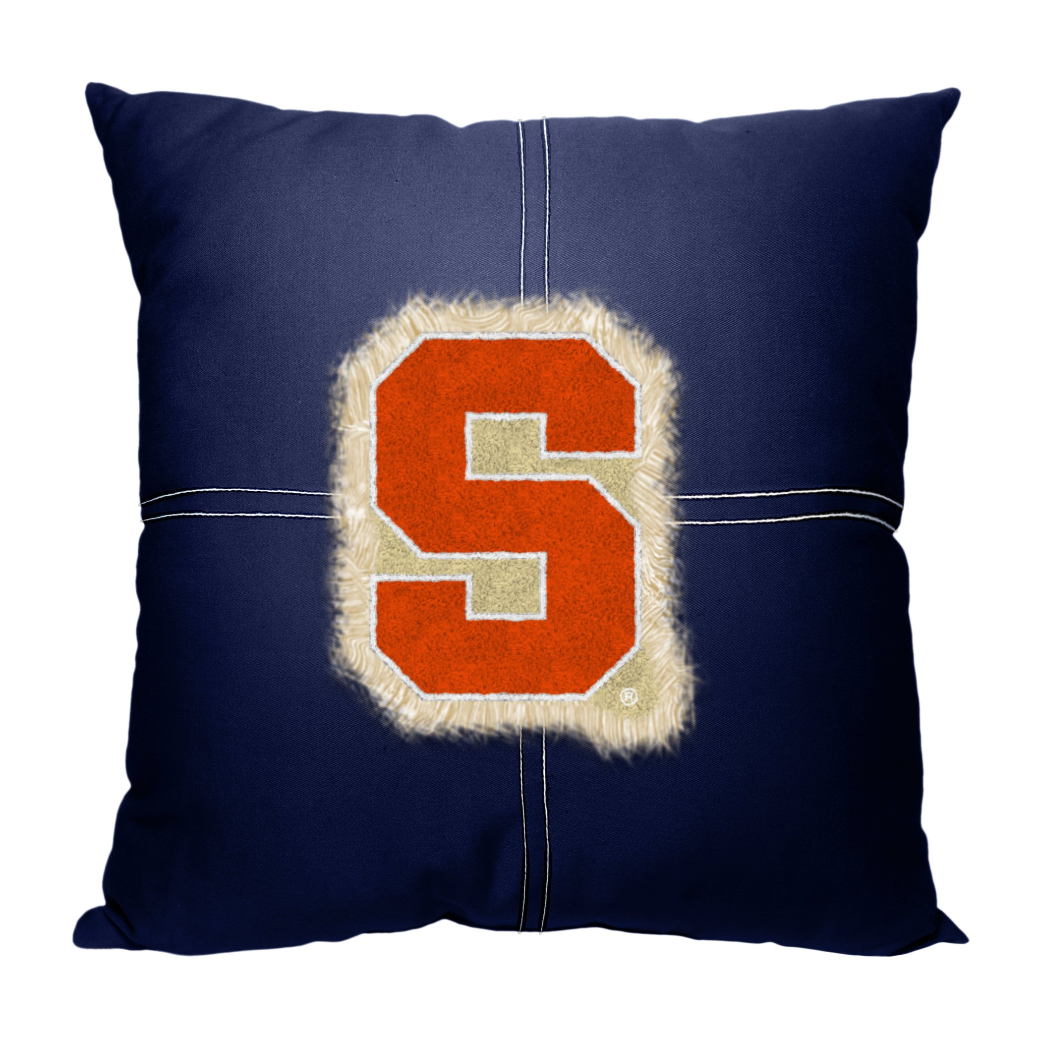 Syracuse OFFICIAL College, Letterman 18 x 18 Pillow
