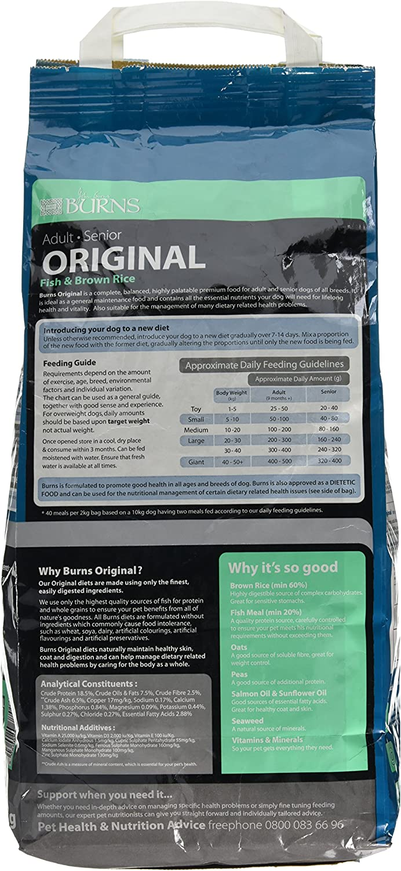 Burns Dog Food Original With Fish 2kg