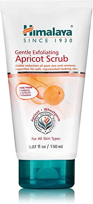 Himalaya Gentle Exfoliating Apricot Scrub with Vitamin-E, Exfoliates Dead Skin Cells 5.07oz/150ml