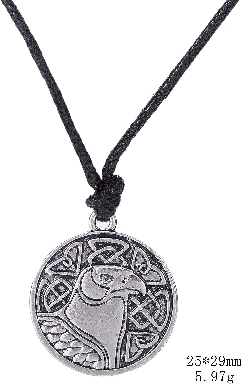 Skyrim Vintage Eagle Hawk Animal Pendant Necklace for Men and Women