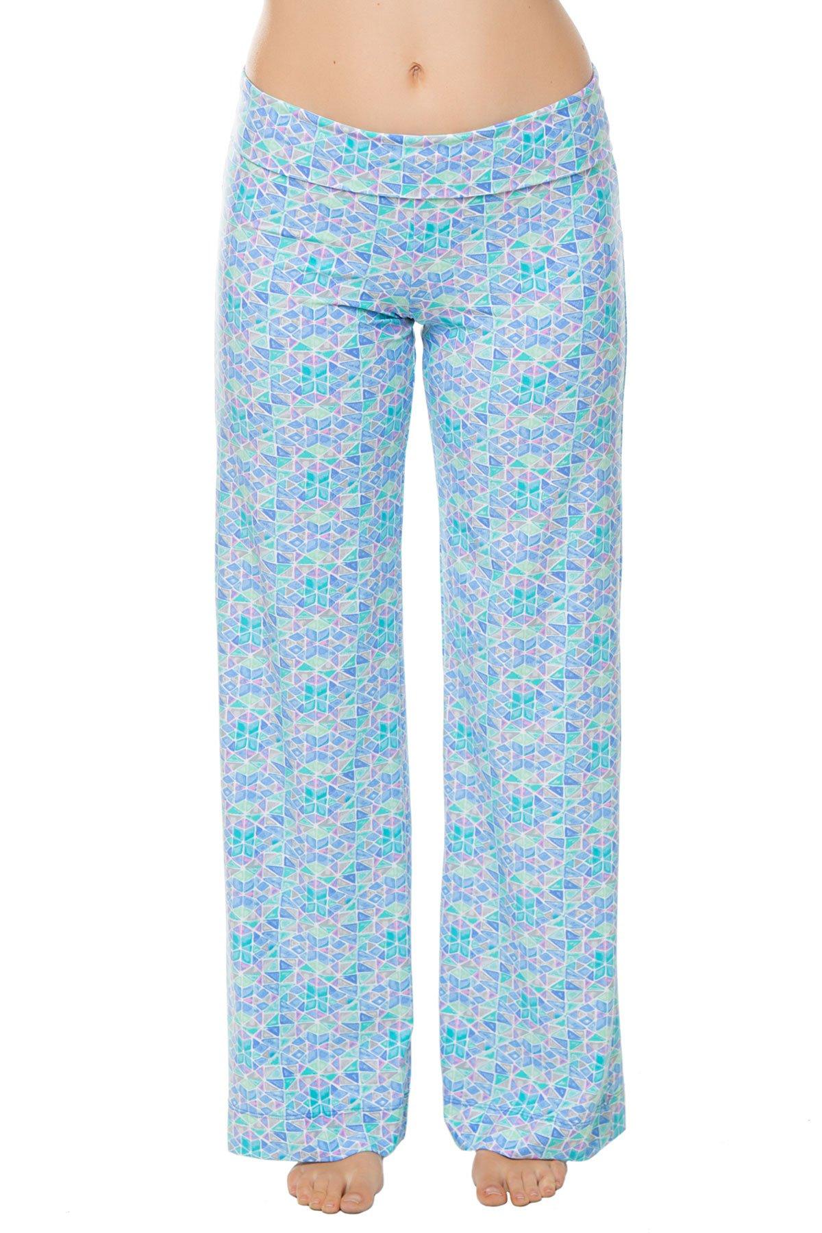 Helen Jon Women's Seaglass Pants Swim Cover Up Seaglass XS