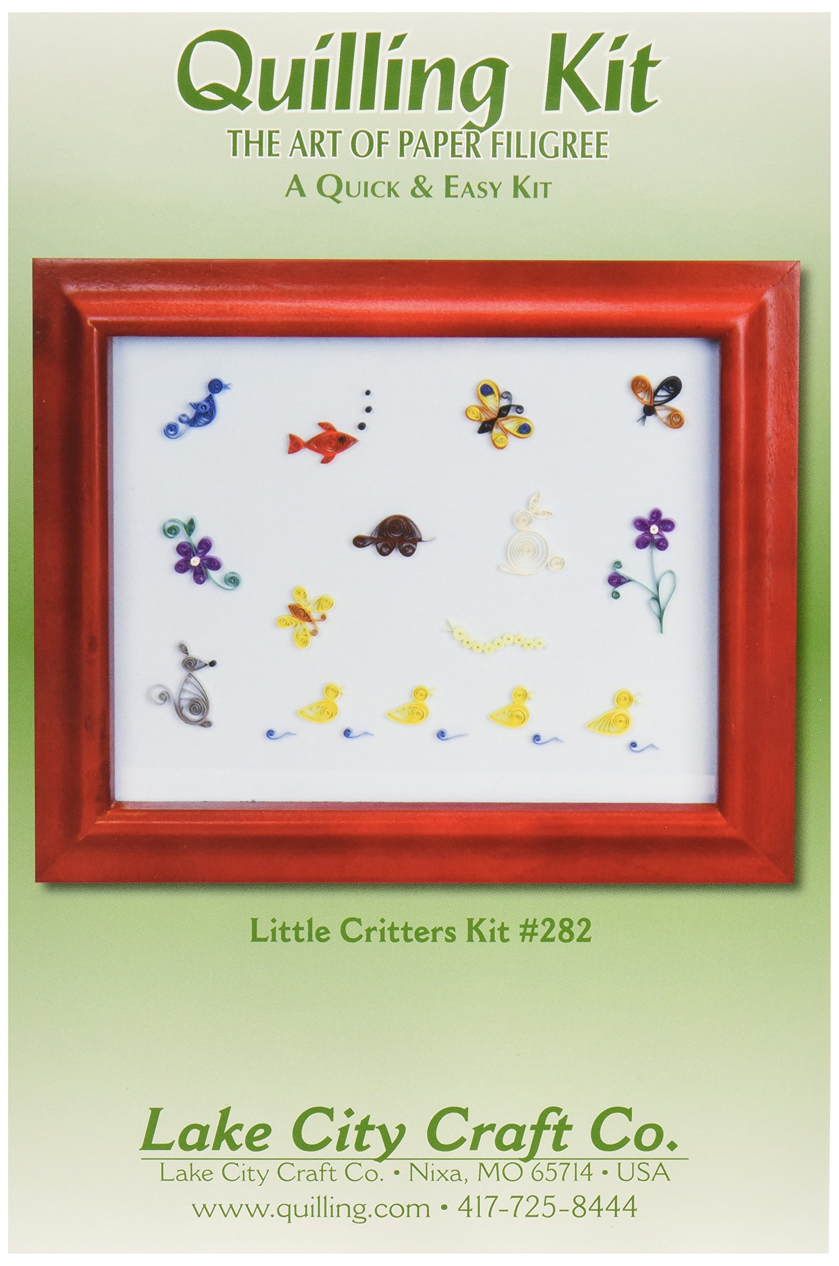 LAKE CITY CRAFT Quilling Kit Quick and Easy Little Critters, Makes 12 by LAKE CITY CRAFT