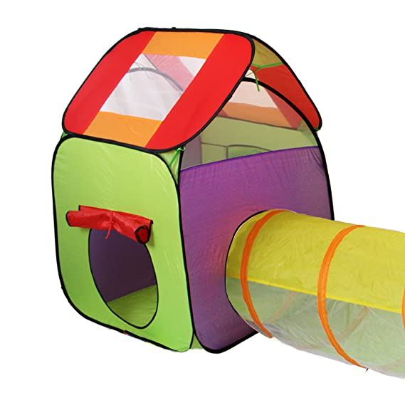 KIDUKU Kinderspielzelt Bällebad Pop Up Spielzelt Iglu Spielhaus + ...