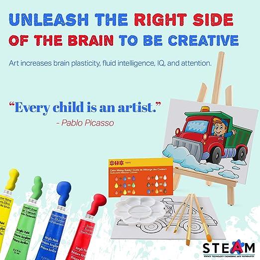 Amazon.com: ETI Toys - Juego de pintura para niños (26 ...