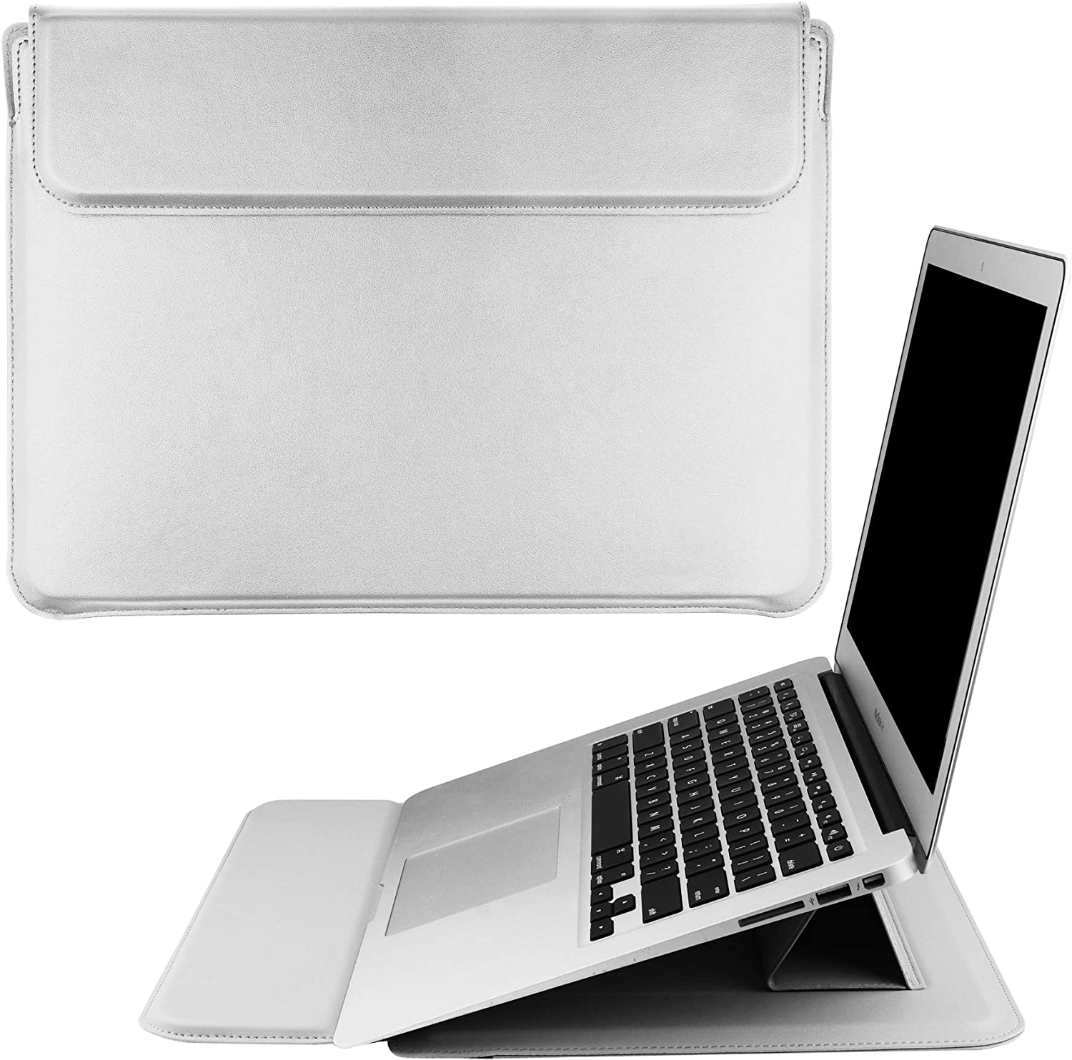 DICOLLAS 13.3 Inch Laptop Sleeve for 13-inch MacBook Air M1/A2337 A2179 A1932 2018-2021, MacBook Pro M1/A2338 A2251 A2289 2016-2021, 360 Protective Case for 12.9 iPad Pro 5th/4th/3rd Gen, Dell XPS 13