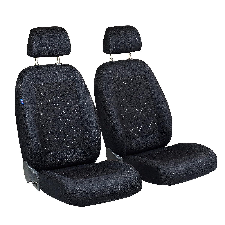 Duster delantero/ /Color Premium Negro tintada cuadros /Fundas de asiento para conductor y pasajero/