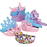 Foam Princess Tiaras Crowns Party Dress-up Role Play Accessory (1-Pack of 12)